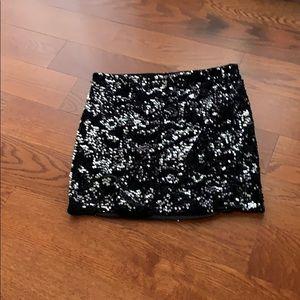 Sequin black/sliver velvet  skirt